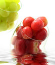 High key grapes in glass Royalty Free Stock Photo