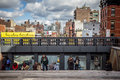 The high line nyc new york city oct park in as seen on oct in this former elevated freight railroad spur on s west side opened as Royalty Free Stock Photos
