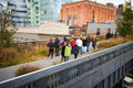 High line park nyc new york city oct in as seen on oct in this former elevated freight railroad spur on s west side opened as Stock Photo