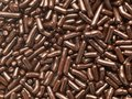 High magnification chocolate sprinkles. Royalty Free Stock Photography