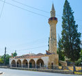 The high minaret old mosque with stone in larnaka cyprus Royalty Free Stock Photography