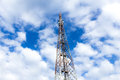 High Mobile Tower and blue sky Royalty Free Stock Photo