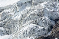 High mountain glacier perennial ice on the chain of the matterhorn and monte rosa Stock Image