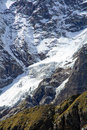 High mountain glacier perennial ice on the chain of the matterhorn and monte rosa Royalty Free Stock Photo