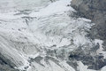 High mountain glacier view of the on the chain of the matterhorn Royalty Free Stock Image