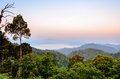 High mountain in the morning beautiful range from panoen thung scenic point at kaeng krachan national park phetchaburi province Stock Images
