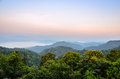 High mountain in the morning beautiful range from panoen thung scenic point at kaeng krachan national park phetchaburi province Royalty Free Stock Images