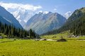 High mountain peak in kyrgyzstan tien shan mountains Stock Photos