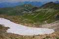 A high mountain walk at the top of the croix de fer french alps Stock Images