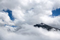 High mountains in cloud. Altay Stock Images