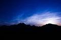 High mountains silhouette
