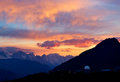 High mountains during sundown beautiful landscape Royalty Free Stock Images