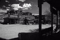 High noon superstitions arizona ghost town at in the desert before the Stock Images
