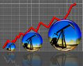 High oil prices and production going much higher Royalty Free Stock Images