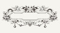 High ornate vintage banner horizontal Stock Photography