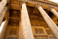 High pillars old in pantheon paris france Royalty Free Stock Image