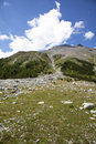 High plateau in the alps Royalty Free Stock Photos