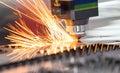 High precision CNC laser welding metal sheet Royalty Free Stock Photo