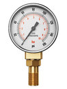 High pressure industrial gas gauge meter or manometer Royalty Free Stock Photo