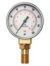 High pressure industrial gas gauge meter or manometer Royalty Free Stock Photo