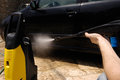 High Pressure Water Car Wash Royalty Free Stock Photo