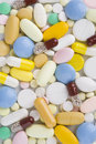 High quality background made from pills and capsules Royalty Free Stock Photos