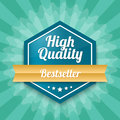 High quality badge bestseller vector illustration Stock Images