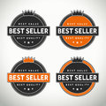 High quality best seller seals and badges Royalty Free Stock Photo