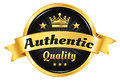 High quality golden badge authentic premium guarantee Royalty Free Stock Photo