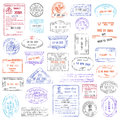 High Quality grunge Passport Stamp collection