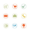 High quality icon sets ecommerce shopping cart Stock Image
