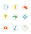 High quality icon sets modern professionally designed Stock Photo