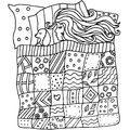 High quality original pattern of girl in a bed with many element