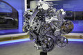 A high quality picture of ecotec liter v engine from the new york international auto show the chevrolet silverado and gmc sierra Royalty Free Stock Photography