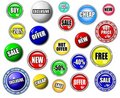 High quality shopping button, symbol, sign set Royalty Free Stock Photo