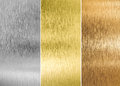 High quality silver, gold and bronze metal Royalty Free Stock Photo