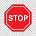 High quality Stop Sign symbol icon. Warning danger symbol prohibiting sign on background vector
