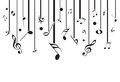 White music notes with lines Royalty Free Stock Photo