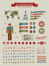 High quality vintage styled infographics elements Royalty Free Stock Photos