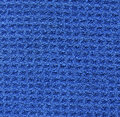 Microfiber Fabric Texture - Blue Royalty Free Stock Photo