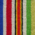 High resolution close up of a colorful striped towel cloth Royalty Free Stock Image