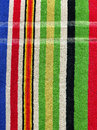 High resolution close up of a colorful striped towel cloth Stock Image