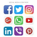 High resolution collection of social media icon pack.