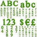 High resolution grass font collection