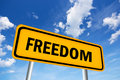 High resolution image of freedom sign Royalty Free Stock Images