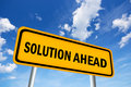 High resolution image of solution ahead sign Royalty Free Stock Images