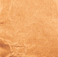 High resolution recycled brown cardstock with halftone old crumpled paper texture or background Royalty Free Stock Photography
