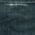 High resolution scan blue denim fabric wear out mark stitch crossing Stock Photos