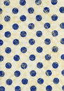 High resolution scan of blue polka dots embedded in yellowish white rice paper Royalty Free Stock Photography