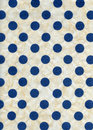 High resolution scan blue polka dots yellowish white rice paper Stock Photos